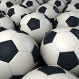 Background of soccer balls Stock Photography