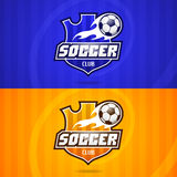 Background soccer club emblem. Illustration, background soccer club emblem, format EPS 10 Royalty Free Stock Photography