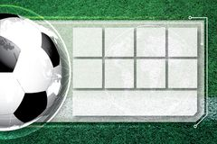Background soccer football Competition schedule. A background soccer football Competition schedule Royalty Free Stock Image