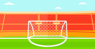 Background of soccer stadium. Royalty Free Stock Photography