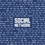 Background with social network keywords Stock Photos