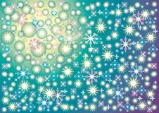 Background soft blue, green, yellow, of a starry sky on Christma. S Eve Royalty Free Stock Photo