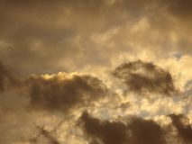 Background with some reddish clouds at sunset Royalty Free Stock Photos