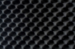 Background of sound absorbing sponge, wall soundproofing Stock Photo
