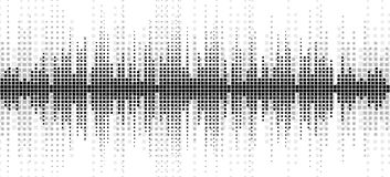 Background with a sound scale. Background with the image of a sound wave Stock Photos