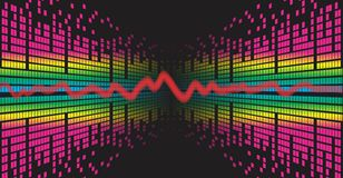 Background with sound scale. A background with the image of a sound wave Royalty Free Stock Images
