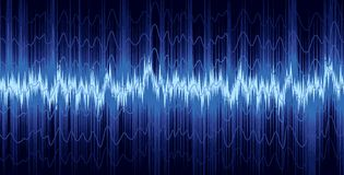 A background with a sound wave. Royalty Free Stock Photos