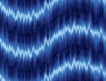 A background with a sound wave. Royalty Free Stock Image