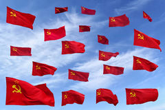 Soviet flags Royalty Free Stock Photos