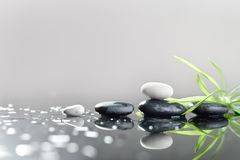 Background of a spa with stones Royalty Free Stock Photos