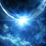 Background of space with stars Royalty Free Stock Images