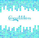Background with space for text. Card of congratulations. Stock Photos