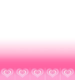 Background with space for text with pattern of abstract hearts Royalty Free Stock Photos