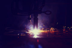 Background sparks from welding Royalty Free Stock Photos