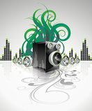 Background with speakers. Royalty Free Stock Image
