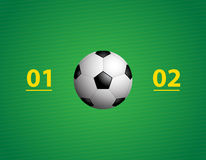Background with a special soccer ball Royalty Free Stock Photo