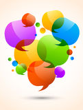 Background with speech bubbles Royalty Free Stock Images