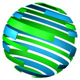 background - sphere of tape. 3D rendering. Stock Photo