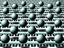 Background with spheres. Lots of checker spheres with shadows Stock Image