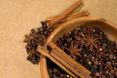 Background with spices Stock Photography