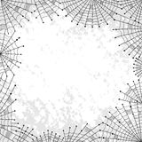 Background with spiderweb and place for text Stock Photo