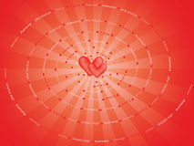 Background with spiral made of word Love Stock Photos
