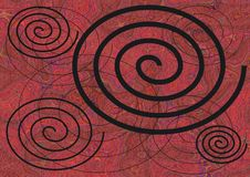 Background of spirals Royalty Free Stock Image