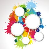 Background with splashes of color Royalty Free Stock Image