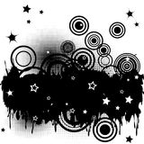 Background with splats, circles and stars Royalty Free Stock Image