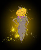 Background with spooky pumpkin Stock Image