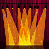 Background Spotlight Indicates Stage Lights And Backdrop Royalty Free Stock Photos