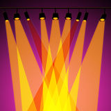 Background Spotlight Represents Stage Lights And Abstract. Spotlight Background Showing Stage Lights And Beam Stock Image