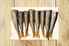 Background with sprats Stock Photography