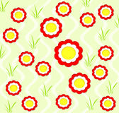Background with spring flowers stock illustration