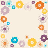 Background with spring flowers Stock Images