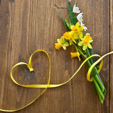 Background with spring flowers Stock Photo