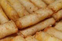 Background of spring rolls Royalty Free Stock Images