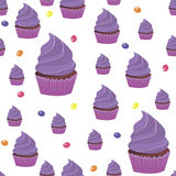 Background spring wallpaper with muffins. vector Royalty Free Stock Photo