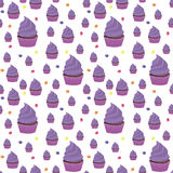Background spring wallpaper with muffins. vector Stock Photography