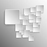 Background square with design on gray royalty free stock image