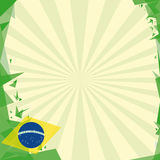 Background square origami of brazil Stock Photo