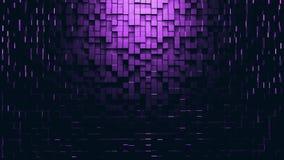 Background of square pixels 3D render illustration. Abstract dark background. Background of square pixels. 3D render illustration Stock Image