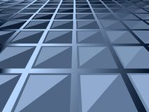 Background squares. Vector background design of angled blue squares Royalty Free Stock Photos