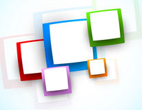 Background with squares. Abstract illustration Royalty Free Stock Photo