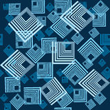 Background with squares in blue tones Stock Images