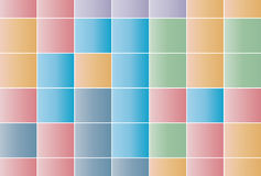 Background of squares in pastel colors Royalty Free Stock Photos