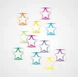 Background with squares and stars Stock Images