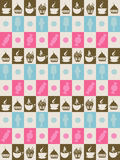 Background in squares with sweets Royalty Free Stock Image