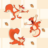 A background with  squirrels seamless pattern Stock Photography