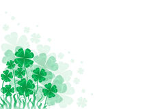 Background St. Patrick day with a symbol- green clover Stock Image